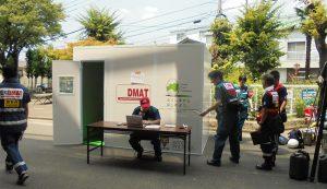 大規模地震時医療活動訓練にハニリアルボード製ERが参加