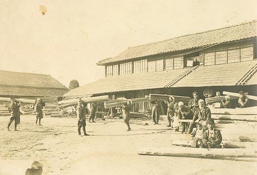 昭和15年頃の製材工場